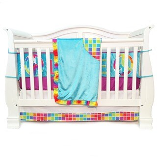 Girls' Terrific Tie Dye 4-piece Crib Bedding Set