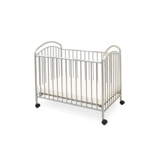 Classic Arched Grey Compact Metal Non-folding Crib