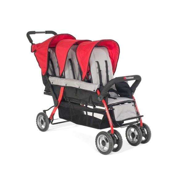 Foundations Trio Sport Tandem Stroller in Red