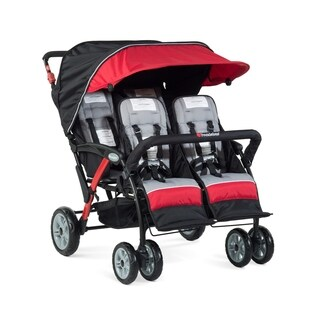 Foundations Quad Sport 4-passenger Stroller in Red