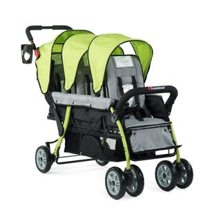 Foundations Trio Sport Tandem Stroller in Lime