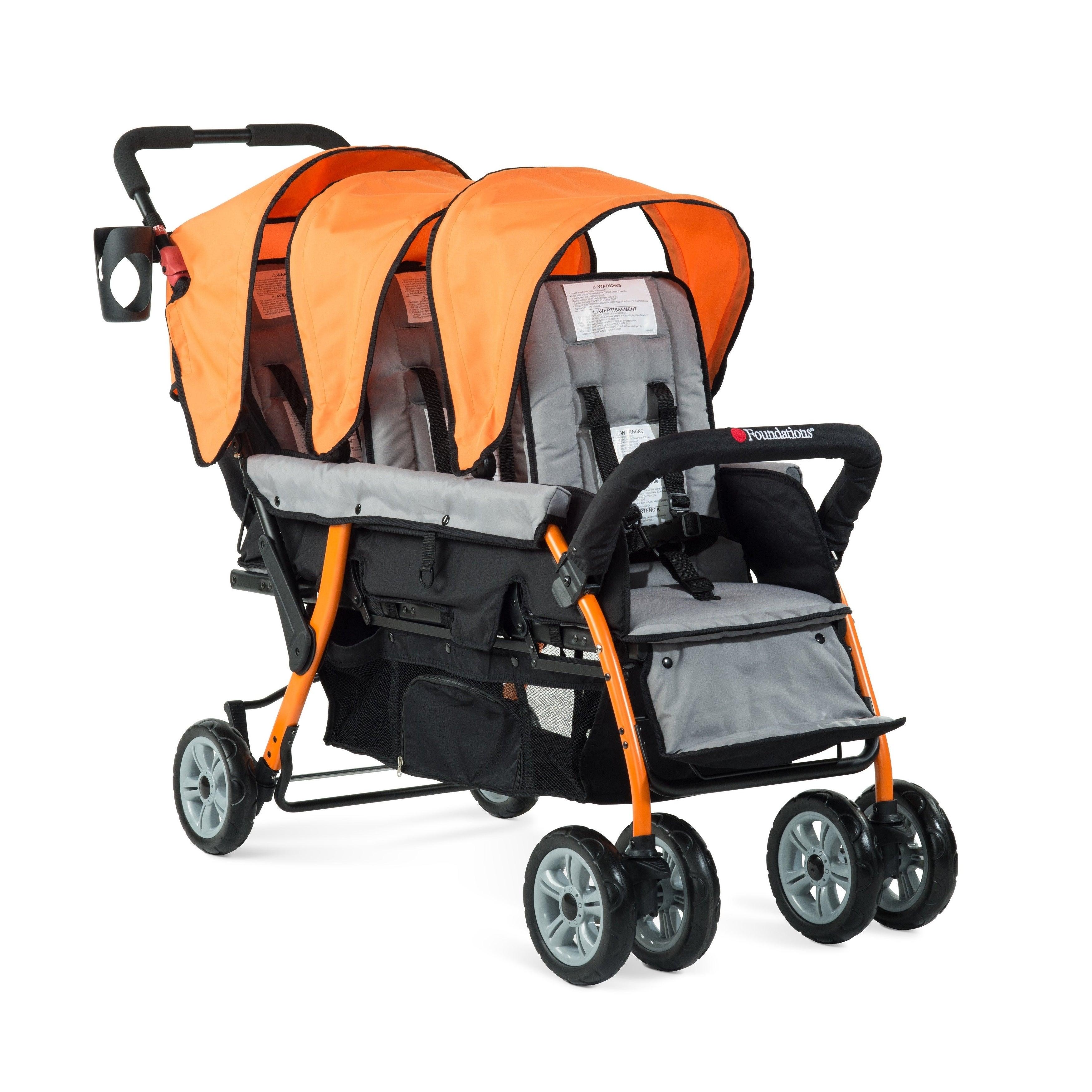 Foundations Trio Sport Tandem Stroller in Orange (Trio Sp...