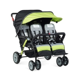 Foundations Quad Sport 4-passenger Stroller in Lime