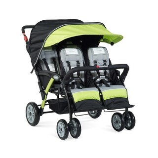 Foundations Quad Sport Lime 4-passenger Stroller