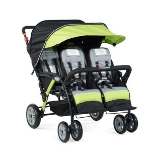 Foundations Quad Sport 4-passenger Stroller in Lime