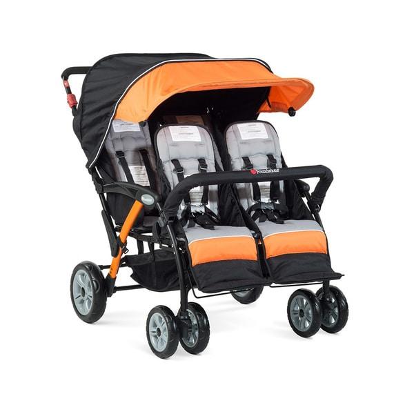 Foundations Quad Sport 4-passenger Stroller in Orange