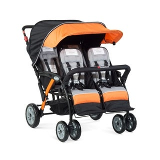 Foundations Quad Sport 4-passenger Stroller in Orange