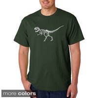 Men's Los Angeles Pop Art 'Dinosaur Bones T-Rex' T-shirt