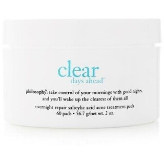 Philosophy Clear Days Ahead Acne Treatment Pads (Pack of 60)