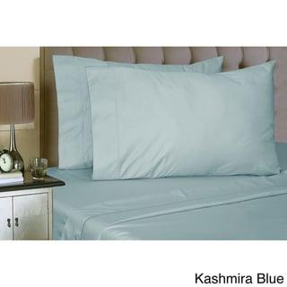 Luxury Sateen Cotton Blend 1000 Thread Count Deep Pocket Sheet Set (Kashmira Blue - Full)