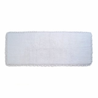 Crochet Edge Bath Runner - includes BONUS step out mat