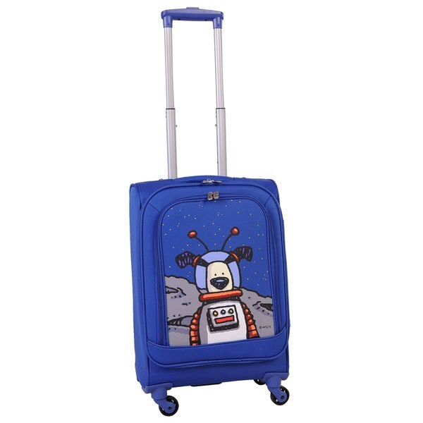 847f7f06d61a Ed Heck True Blue Moon Dog 20-inch Carry-on Spinner Upright Suitcase