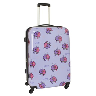 Ed Heck Purple Multi Love Birds 29-inch Hardside Spinner Upright Suitcase