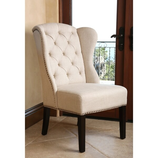 ABBYSON LIVING Sierra Tufted Cream Linen Wingback Dining  : Abbyson Living Sierra Tufted Cream Linen Wingback Dining Chair 322df79a 3913 4ffb 8cd3 e30367fed2bf600 from www.overstock.com size 600 x 600 jpeg 45kB