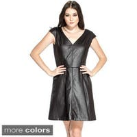 Amelia Women's Leatherette Fit-and-flare Dress