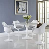 "Lippa White Cushioned Dining Armchair (Set of 4) - 23.5""l x 27""w x 33.5""h"