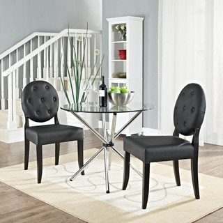 Black Button Dining Chair (Set of 2)