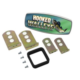 HitchMate Premier Series 'Hooked on Walleye' Hitch Cap