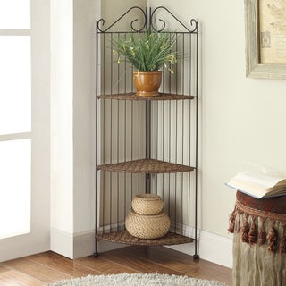 Farmington Corner 3-Tier Maize Woven Shelf