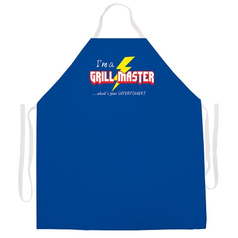 'Grill Master Superpower Apron'-Blue