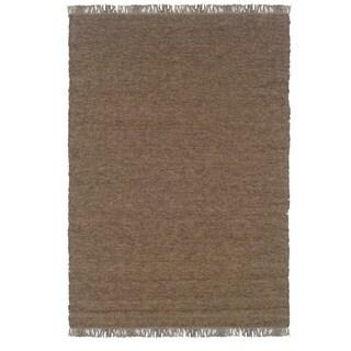 Linon Verginia Berber Cocoa/ Mushroom Area Rug (5.3' x 7'6)