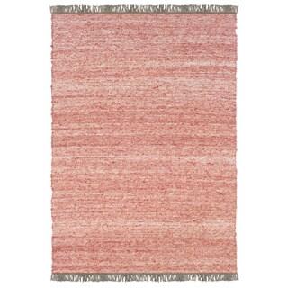 Linon Verginia Berber Red/ Natural Area Rug (7'10' x 10'4)