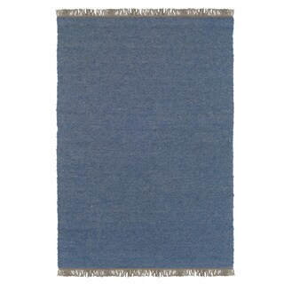 Linon Verginia Berber Denim Blue Area Rug (5.3' x 7.6')