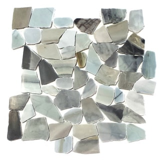 Oyster Blue Pack of 5 Flat Pebble Mesh Tiles