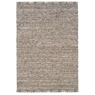 Linon Verginia Berber Dark/ Natural Area Rug (7.10' x 10.4')