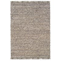 Linon Verginia Berber Dark/ Natural Area Rug (7.10' x 10.4') - 7'10' x 10'4