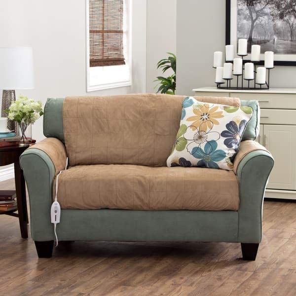 Groovy Shop Serta Heated Warming Loveseat Furniture Protector Short Links Chair Design For Home Short Linksinfo