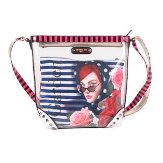 Nicole Lee 'Lady in Red' Clear Crossbody Bag