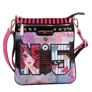Nicole Lee 'No. 5' Print Crossbody Bag