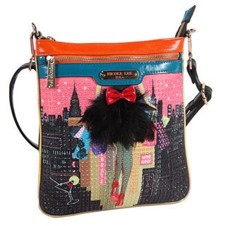 Nicole Lee Dark City Print Crossbody Bag