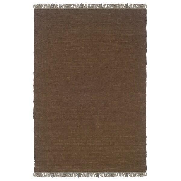 Linon Verginia Berber Cocoa Area Rug - 7'1 x 10'4