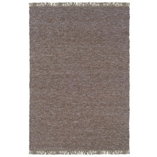 Linon Verginia Berber Brown/ Blue Area Rug (7'10 x 10'4)