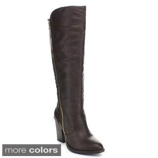 Wild Diva 'Dominic-15' Women's Knee-high Riding Boots