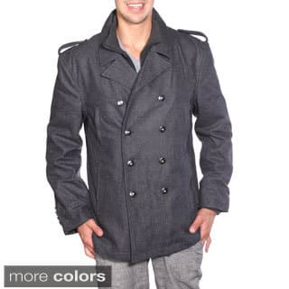 Wilda Men's Military Wool Peacoat|https://ak1.ostkcdn.com/images/products/9555100/P16736274.jpg?impolicy=medium