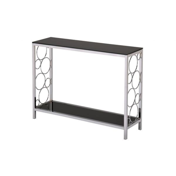 Infinity Chrome and Black Tempered Glass Console Table  : Infinity Console Table f6ff2057 c85e 45de 9dc5 4b3f7bf6a080600 from www.overstock.com size 600 x 600 jpeg 10kB