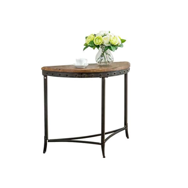 Carbon Loft Patel Distressed Pine And Metal Console Table