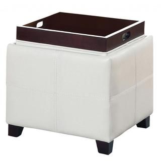 Porch & Den Essex Heatherbush Storage Ottoman with Reversible Tray