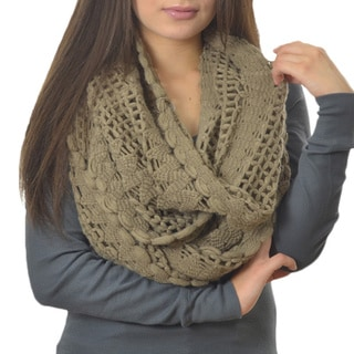 LA77 Shell Edged Crochet Infinity Scarf