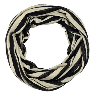 LA77 Lace Striped Infinity Scarf