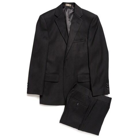 Caravelli Junior Boys' Black Tonal Stripe 2-piece Suit