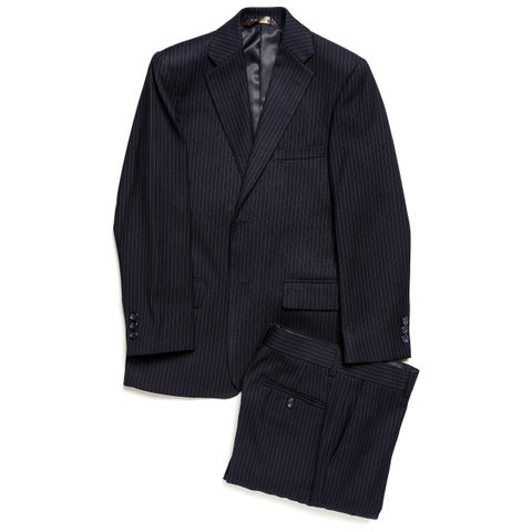 Caravelli Junior Boys' Navy Pinstripe 2-piece Suit