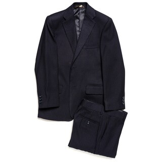 Caravelli Junior Boys' Navy Pinstripe 2-piece Suit