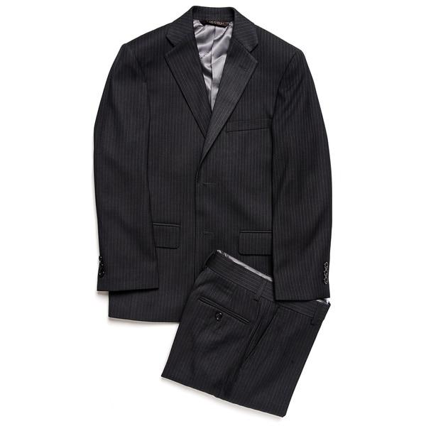 Caravelli Junior Boys' Grey Pinstripe 2-piece Suit