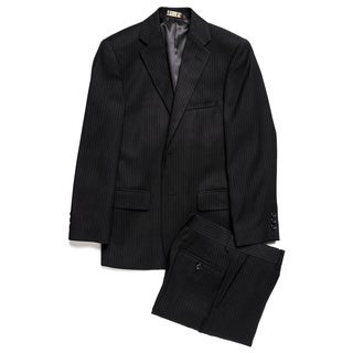 Caravelli Junior Boys' Black Pinstripe 2-piece Suit