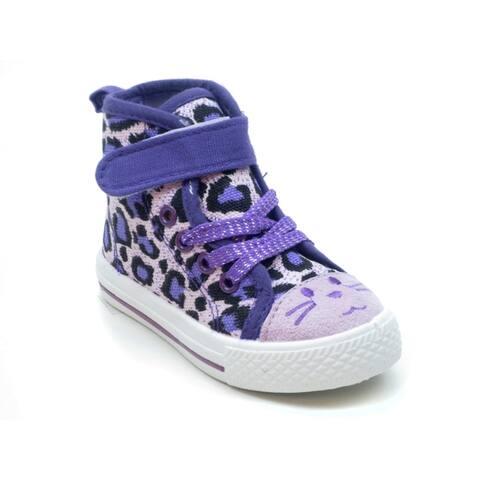 Blue Girls 'K HiFace' Animal Printed Sneakers