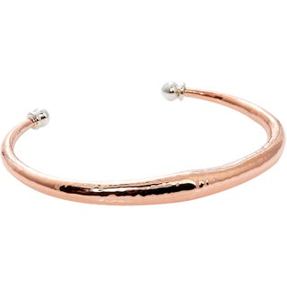 Hand-crafted Pumped Hammered Copper Cuff Bracelet (Mexico)